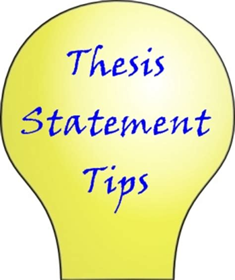 How to state your thesis